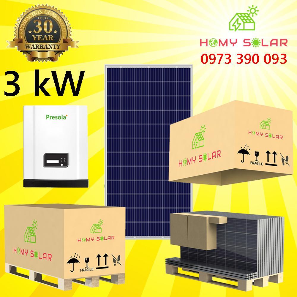 Hệ thống điện năng lượng mặt trời 3 kW HOMY SOLAR P3-PPW