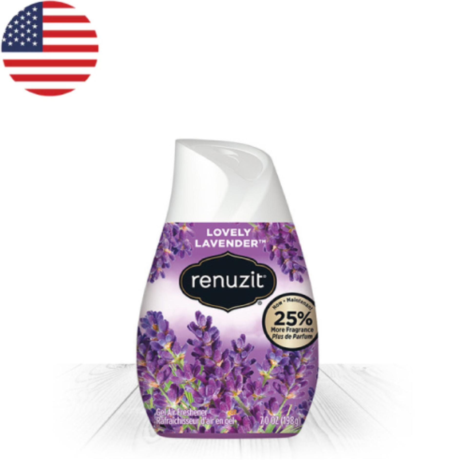 Sáp thơm phòng Renuzit Lovely Lavender 198g - Nhập khẩu Mỹ