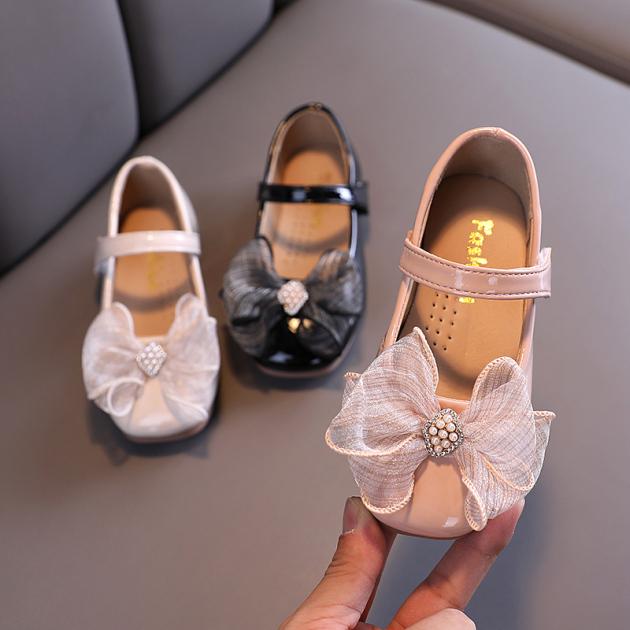 Giày Da Mềm Có Nơ Dễ Thương Phong Cách Hàn Quốc Cho Bé Gái Từ 2-6 Tuổi giá rẻ