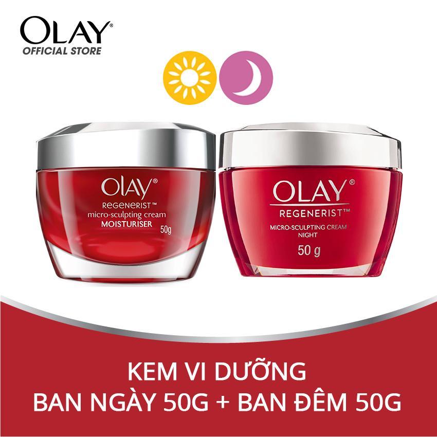 Combo dưỡng da ngày và đêm Olay Regenerist