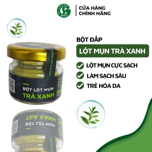 Bột lột mụn Trà Xanh Matcha Nguyên chất Organic - Handmade - LM005 nhập khẩu