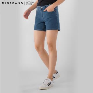 GIORDANO Quần Short Nữ Denim Shorts 05407208 thumbnail