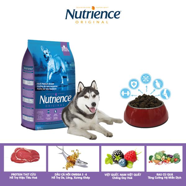 Thức Ăn Cho Chó Husky Nutrience Original Phát Triển Cơ Bắp, Xương Sụn Cơ Khớp, Hệ Miễn Dịch, Hệ Tiêu Hóa Khỏe Mạnh, Da Lông Bóng Mượt - Thịt Cừu, Rau Củ Và Trái Cây Tự Nhiên