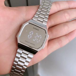 Đồng hồ Casio tráng gương mặt cảm ứng sang trọng, dây thép không dỉ thumbnail