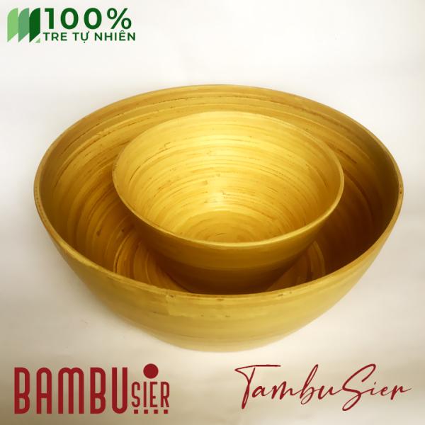 Bộ chậu ngâm chân + chậu ngâm tay cho tiệm Spa, Nail chất liệu 100% tre tự nhiên - Natural Bamboo giá rẻ