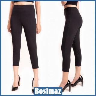Quần Legging Nữ Bosimaz MS311 lửng không túi màu đen cao cấp, thun co giãn 4 chiều, vải đẹp dày, thoáng mát không xù lông. thumbnail