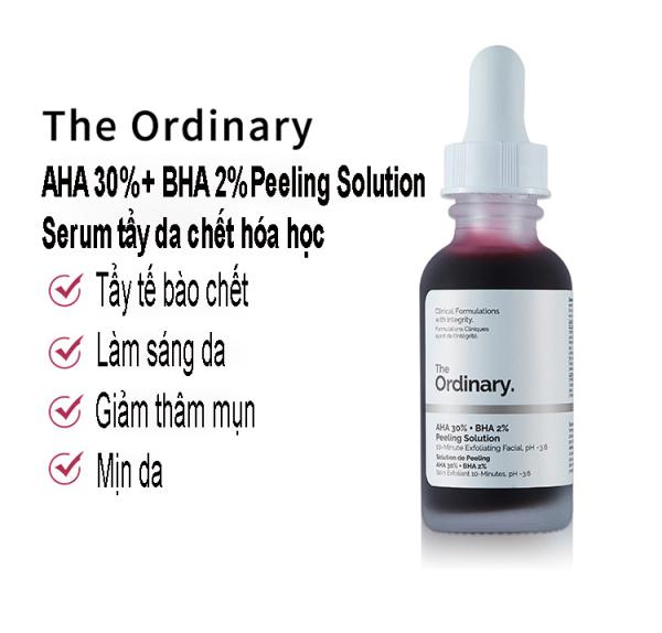 Serum Tẩy Da Chết The Oridnary AHA 30% + BHA 2% Peeling Solution Tinh Chất Tẩy Tế Bào Chết Peeling Da