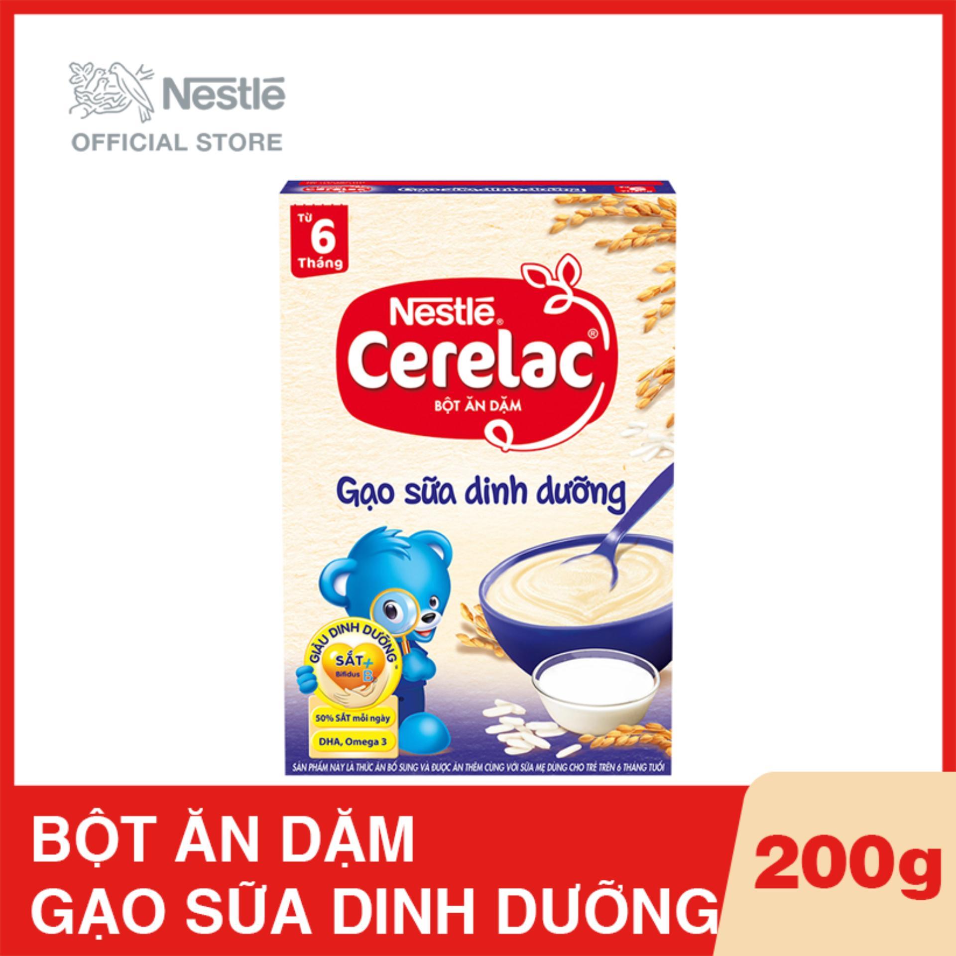 Bột ăn dặm Nestlé CERELAC Gạo Sữa Dinh Dưỡng 200g