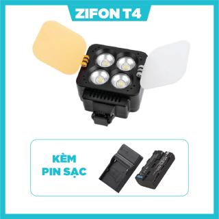 ĐÈN LED QUAY PHIM ZIFON T4 KÈM PIN SẠC thumbnail