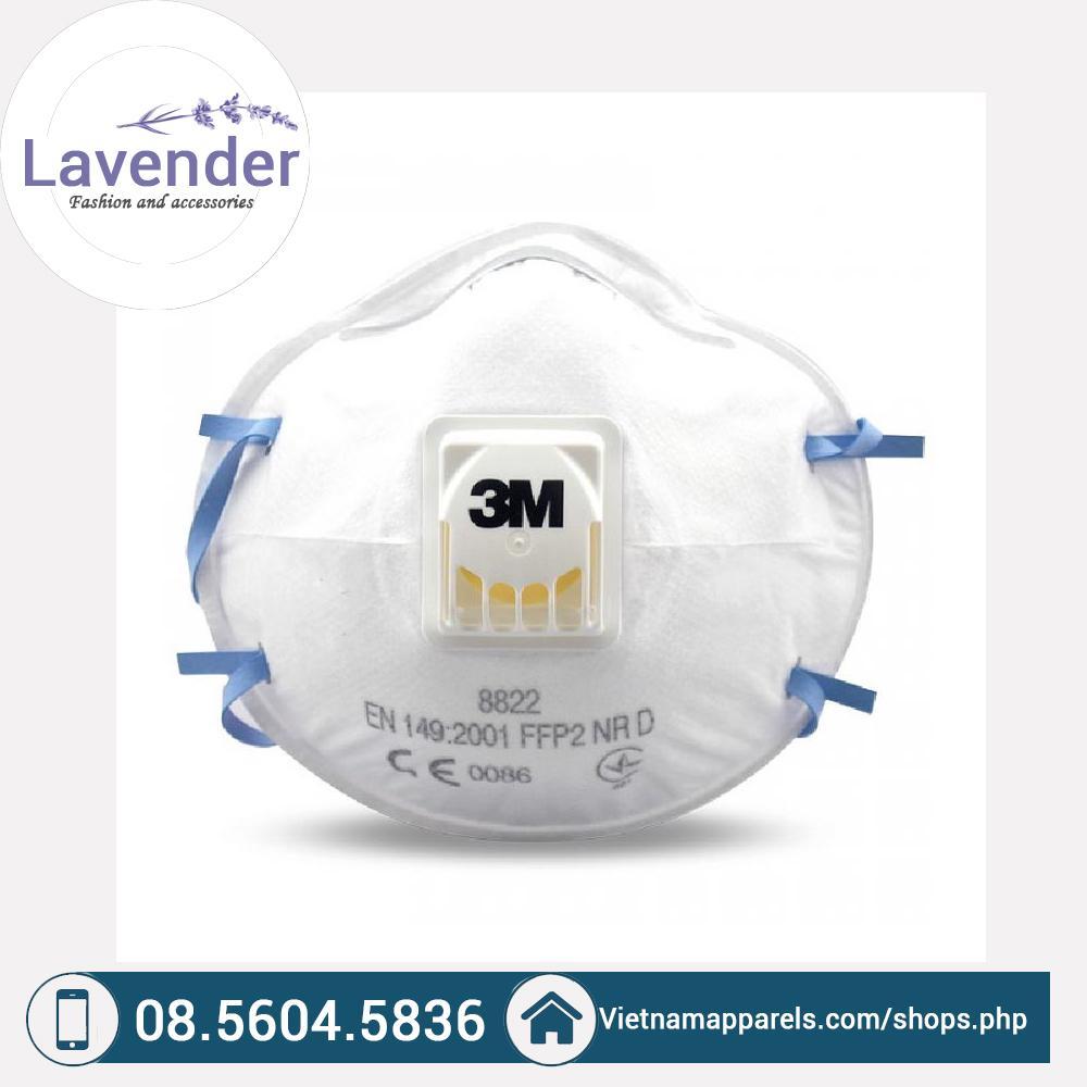 Khẩu trang 3M 8822 kháng khuẩn, chống bụi