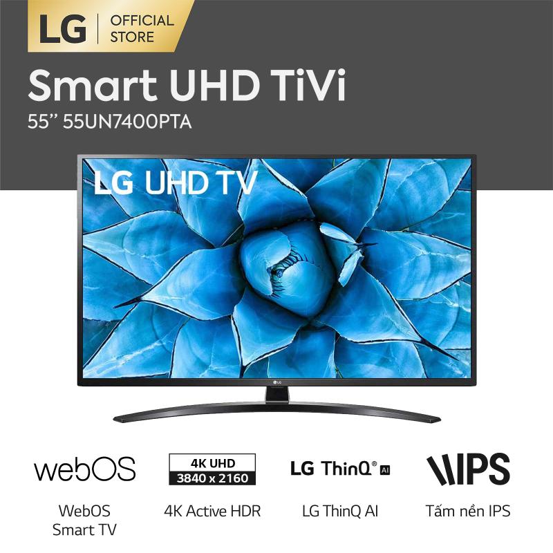 Bảng giá [FREESHIP 500K TOÀN QUỐC] SMART TV LG 4K UHD 55 inch 55UN7400PTA Model 2020 - Hãng phân phối chính thức