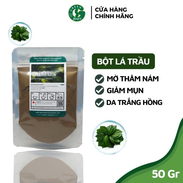 50GR Bột lá trầu không sạch nguyên chất Organic - mỹ phẩm Handmade - B2.002 nhập khẩu