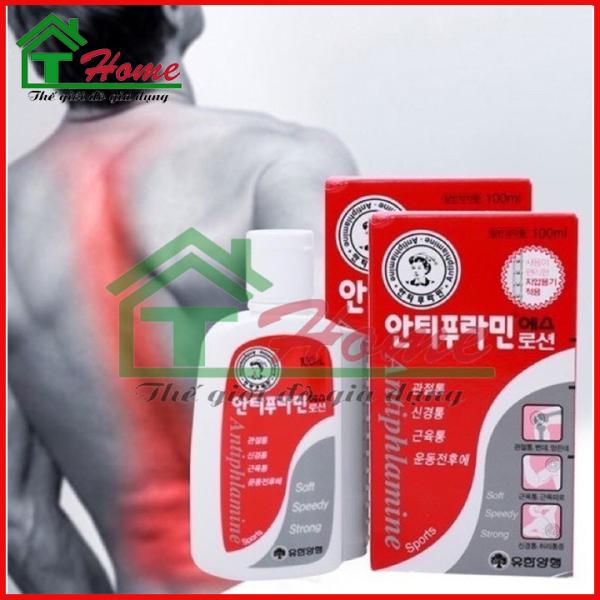 Bộ 4 Chai Dầu Nóng Hàn Quốc Antiphlamine - Chai 100ml - Chuyên Giảm Đau nhức Massage Cơ Thể