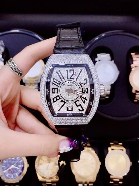 Đồng hồ nam Dây da bọc cao su chống nước F.RANK$ M.ULLER$ V45 - Size 45x53mm - FULLBOXĐồng hồ nam cao cấp Đồng hồ nam cá tính bán chạy