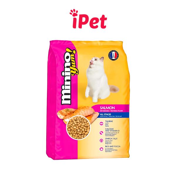 Thức Ăn Hạt Khô Cho Mèo Minino Yum 350g - iPet Shop