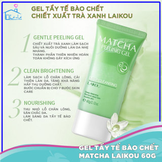Tẩy da chết Laikou tinh chất trà xanh và hoa bưởi Matcha 60g, làm sạch tế bào chết Gel tẩy da chết và tế bào cho da nhạy cảm an toàn không gây kích ứng thumbnail