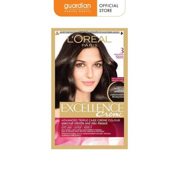 Thuốc nhuộm tóc Loreal Paris Excellence Creme #3 Dark Brown 172ml (Màu Nâu Đen Tự Nhiên) giá rẻ