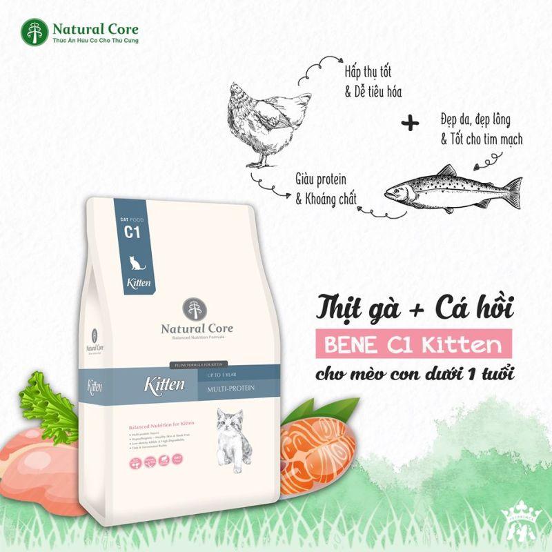 Thức ăn Natural Core C1 Bene Kitten cho mèo con 2kg