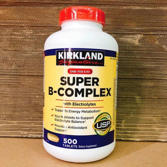 Hỗ trợ năng lượng từ Kirkland Signature Super B- Complex 500 viên chính hãng