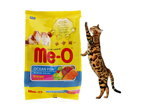 Hanpet- Me-o Ocean Fish Túi 400g Thức ăn hạt khô dành cho mèo con hương vị cá biển thumbnail