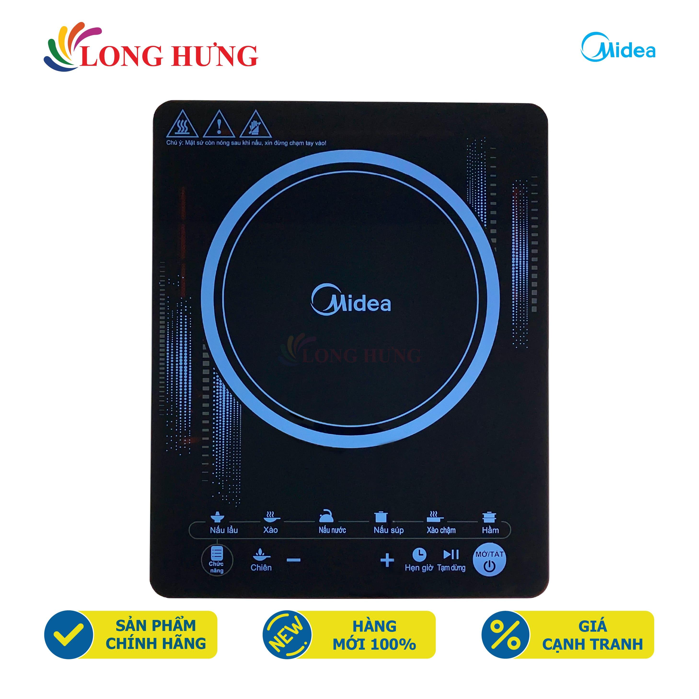 Bếp điện từ Midea MI-T2117DC - Hàng chính hãng - Mặt bếp bằng kính chịu nhiệt, Đa chức năng, Điều khiển cảm ứng