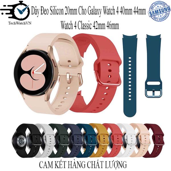 Dây Đeo Silicon 20mm Cho Đồng Hồ Thông Minh Samsung Galaxy Watch 4 40mm 44mm & Watch 4 Classic 42mm 46mm