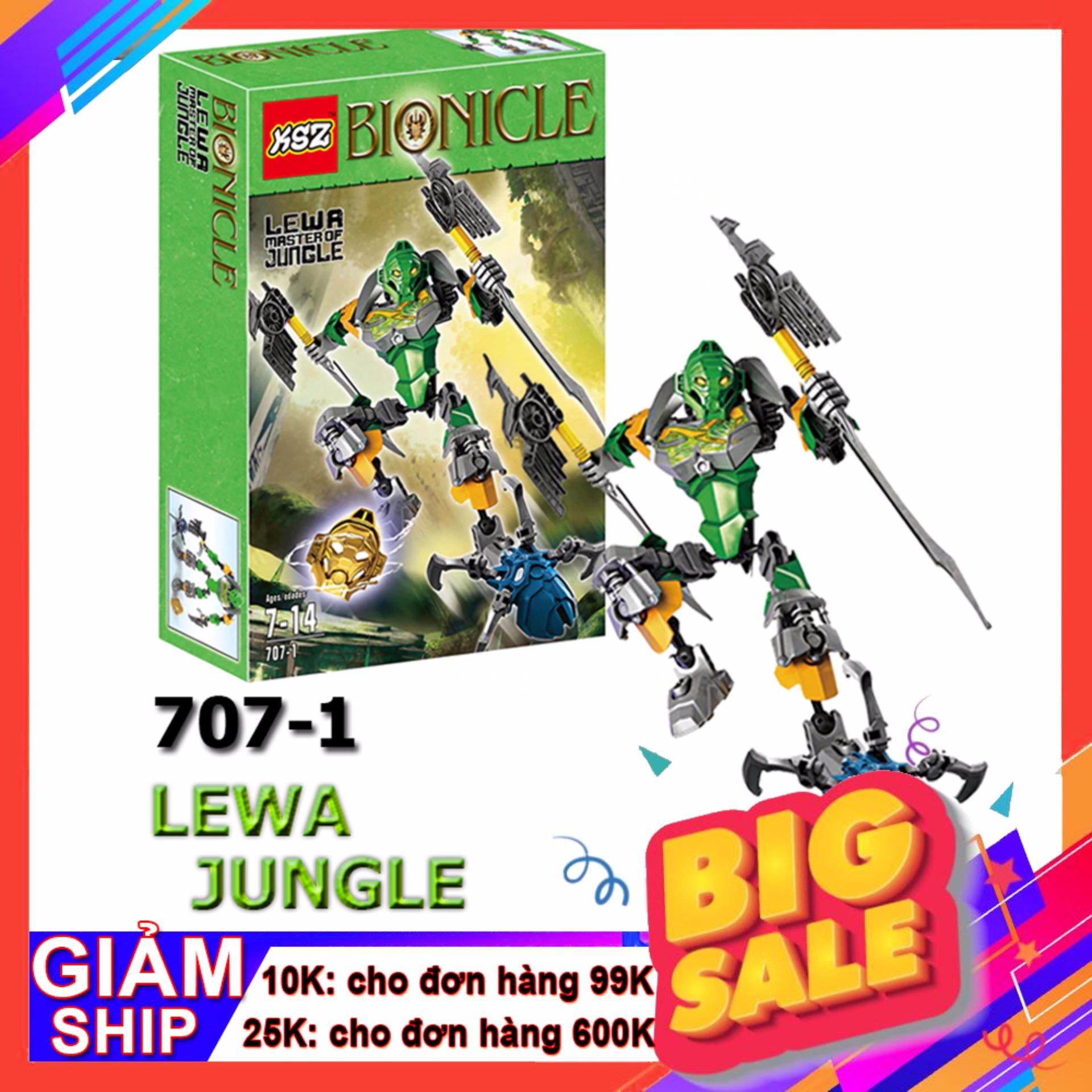 Đồ Chơi Ghép Hình Bionicle 707-1 Lewa Jungle Sức Mạnh Rừng Xanh Siêu Khuyến Mại