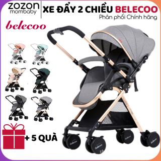 Xe đẩy cho bé Belecoo gấp gọn 2 chiều A8-1 có mái che cho bé từ sơ sinh-3 tuổi chịu lực 25kg Zozon phân phối chính hãng thumbnail