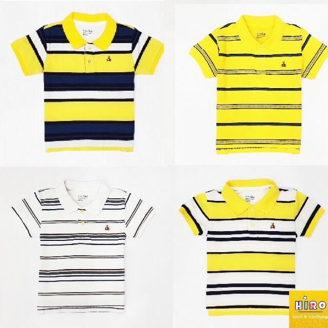 Combo 3 áo thun bé trai gái 10-45kg - áo polo bé trai xuất khẩu áo bé trai có cổ (nhiều màu)
