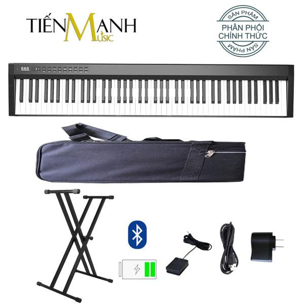 Đàn Piano Điện Konix PH88C - Đàn, Chân, Bao, Nguồn 88 Phím nặng Cảm ứng lực - Midi Keyboard Controllers (Loa kép, Bluetooth, Pin sạc, Kèm Bao Đựng, Sustain Pedal, Giá để bản nhạc, Cùng Cáp sạc, Bộ sạc)