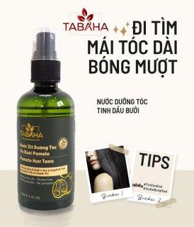 Nước dưỡng tóc tinh dầu bưởi Năm Roi & Vitamin B5 Tabaha Pomelo hair tonic giúp giảm rụng và kích thích mọc tóc nhanh thumbnail