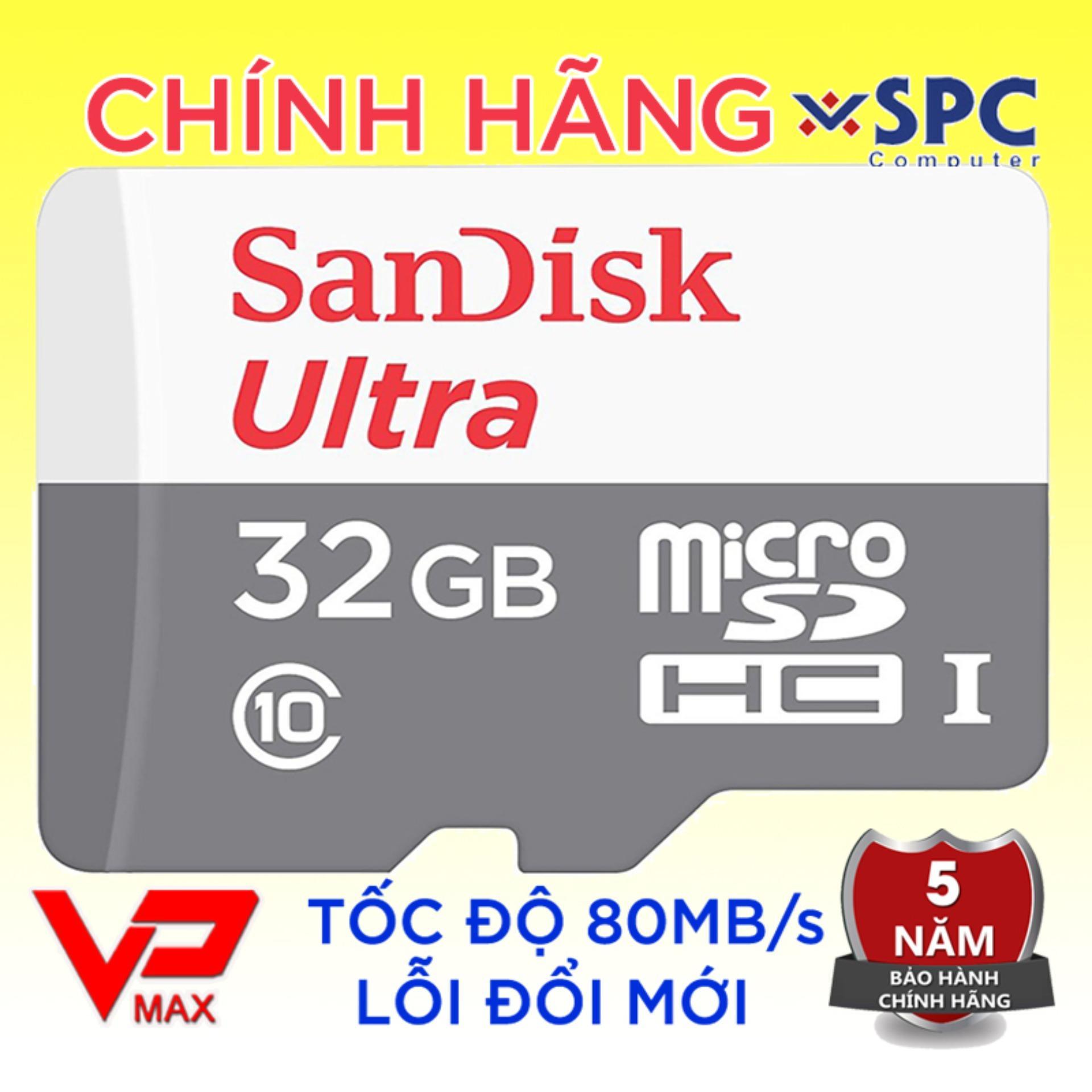 Offer Ưu Đãi Thẻ Nhớ Micro SD 32GB 16GB SanDisk Ultra Class 10 - 80Mb/s