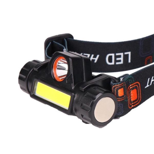 (Đèn loại tốt) Đèn pin siêu sáng - Đèn pin led đội đầu B6 3 chế độ sáng kim 2 bóng led , loại pin sạc