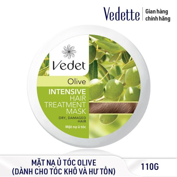 Mặt nạ ủ tóc Olive Vedette Intensive Hair Treatment Mask – Dry & Damaged Hair – Olive 110g (dạng hủ) cao cấp
