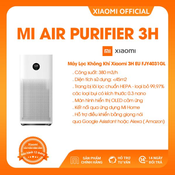 Bảng giá [XIAOMI OFFICIAL] Xiaomi Air Purifier 3H - Lọc không khí, lọc bụi mịn, khử mùi, diệt khuẩn, Công suất 380m3/h, Diện tích 45m2 - Hàng chính hãng - BH 12 tháng