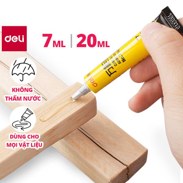 Mua Keo đa năng Deli - Keo siêu dính - Dính được gỗ, gốm, kim loại - mối dính chống nước - 7ml/ 20ml -  7140/7149