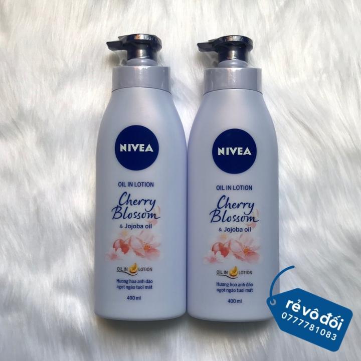 Sữa Dưỡng Thể NIVEA Hương Hoa Anh Đào 400ml - Thái Lan nhập khẩu