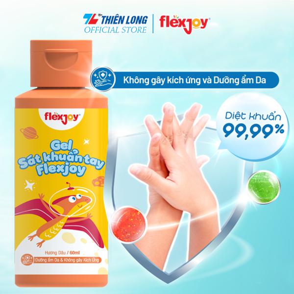 Gel sát khuẩn tay Flexjoy (Flex-JHSA001) - Sạch khuẩn 99.99%, Không gây kích ứng da - Có 3 mùi hương (dâu, táo, mâm xôi) cao cấp