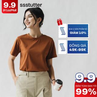 Áo Phông nữ SSSTUTTER cổ tròn ngắn tay dáng xuông chất cotton thoáng mát Great Life Tee HER thumbnail