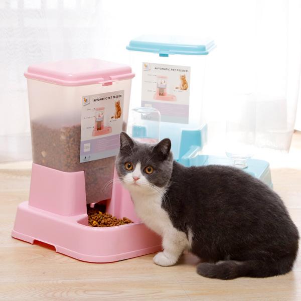 Bát Ăn Tự Động Kèm Bình Cho Chó Mèo