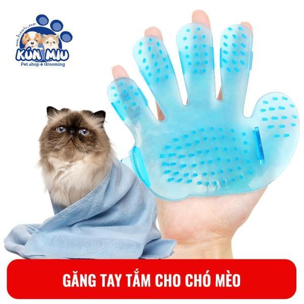 Găng tay tắm và chải lông chó mèo Kún Miu cỡ nhỏ