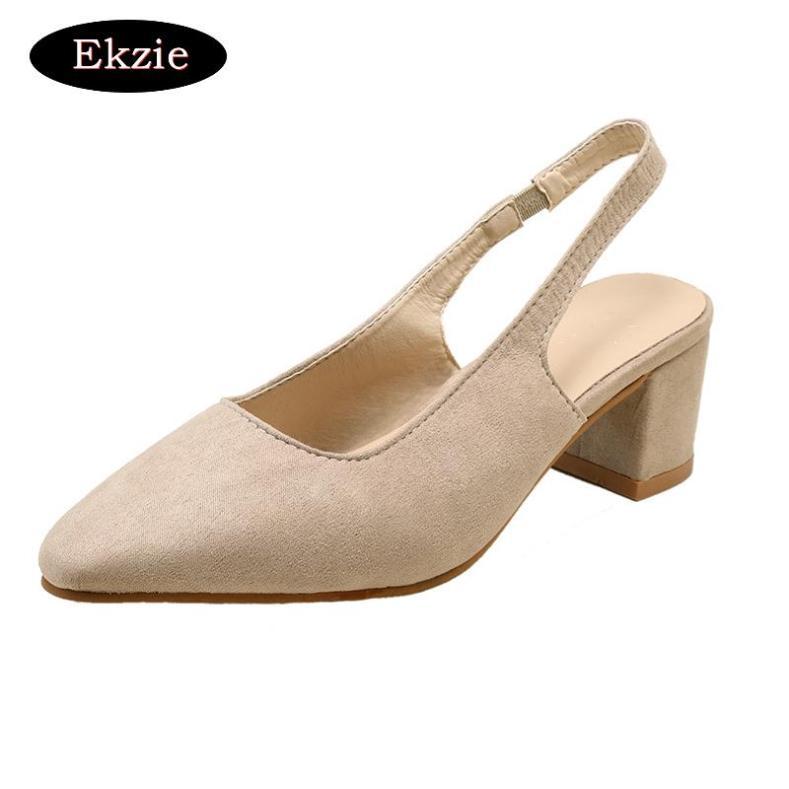 2020 mùa xuân và mùa thu mới phụ nữ giản dị mũi nhọn rỗng giày đơn đế dày gót thấp Da lộn Hàn Quốc màu đen cam mơ rắn màu làm việc bình thường bữa tiệc hẹn hò Baotou một khóa giày giá rẻ