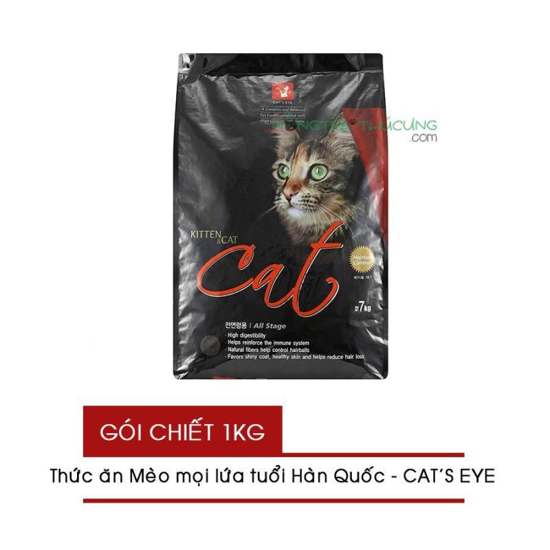 Thức ăn hạt cho Mèo mọi lứa tuổi Nhập Khẩu Hàn Quốc CATS EYE - Gói chiết 1Kg - [Nông Trại Thú Cưng]