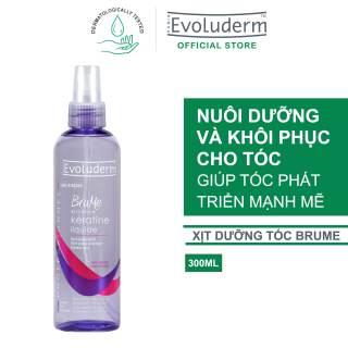 Xịt dưỡng giúp nuôi dưỡng phục hồi độ bóng dành cho tóc khô và xỉn màu Evoluderm Brume Cheveur Keratine 300ML