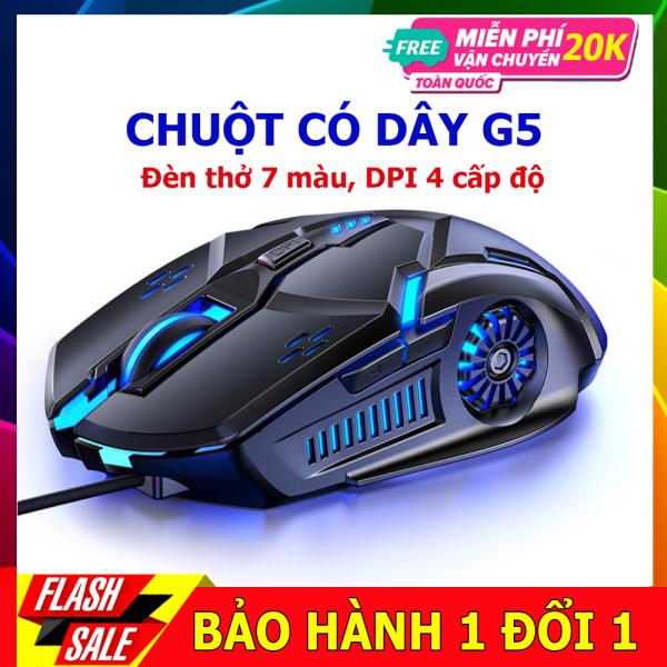 Bảng giá Chuột máy tính chơi game YINDI-G5 ,hiệu ứng ánh sáng 7 màu , DPI 4 cấp độ phù hợp cho game thủ và văn phòng Phong Vũ