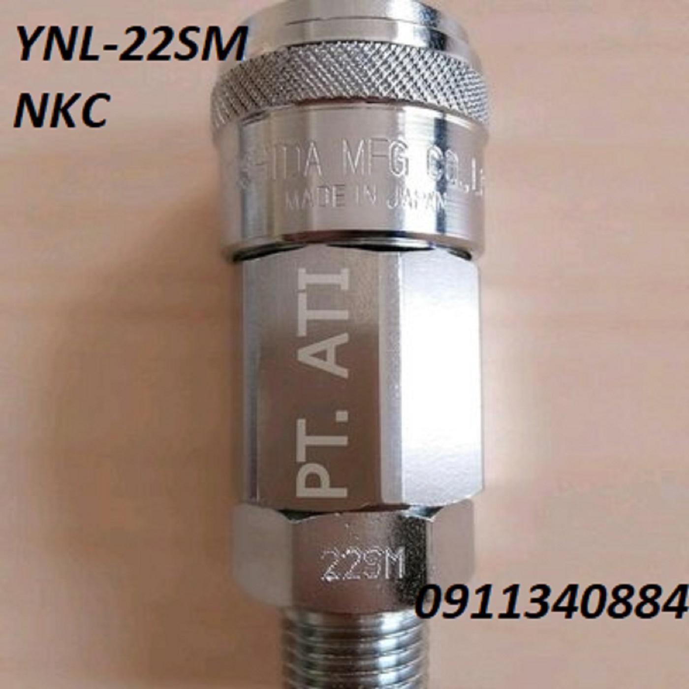 Khớp nối NKC dòng YNL-22SM/YNL-24SM-đầu nối khí nén-đầu nối nhanh thủy lực-đầu nối nhanh khí nén inox-đầu nối nhanh cao cấp-khớp nối nhanh