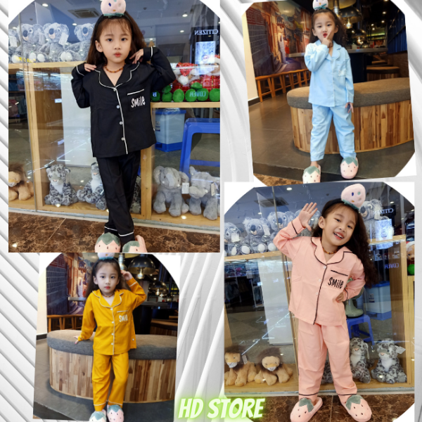 Giá bán Đồ bộ cho bé, pizama bé gái chất kate lụa mềm mịn-hàng chuẩn shop 0118