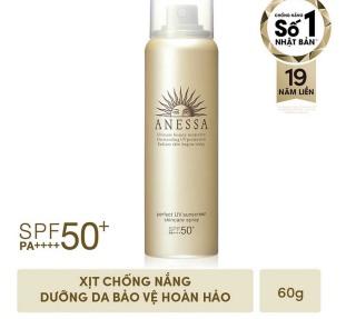 Kem chống nắng dạng xịt dươ ng da bảo vệ hoàn hảo ANESSA Perfect UV Sunscreen Skincare Spray SPF 50+ PA++++ date 2022 thumbnail