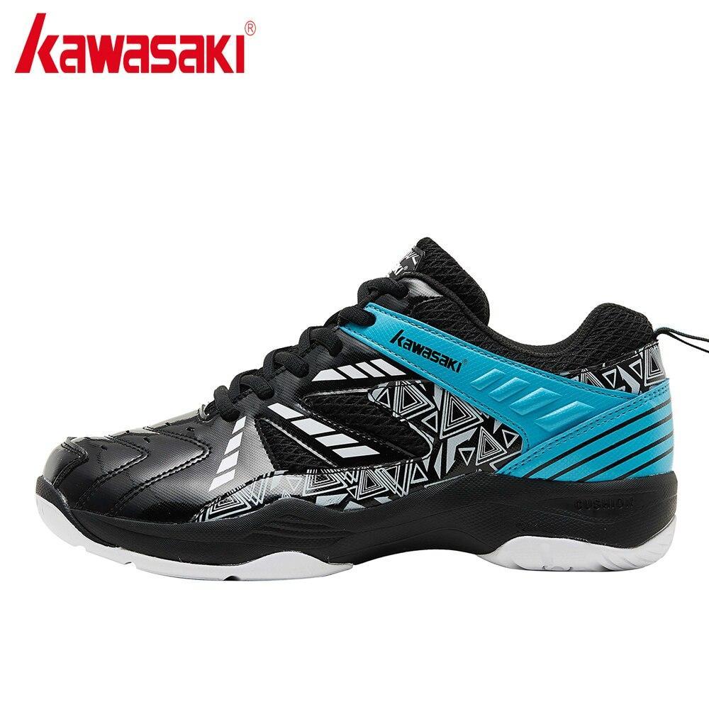 Giày thể thao nam nữ Kawasaki K080 mẫu mới, chống trơn trượt, giảm chấn hiệu quả, dành cho nam và nữ màu đen xanh đủ size - Giày cầu lông chuyên dụng Kawasaki K080 mầu đen xanh