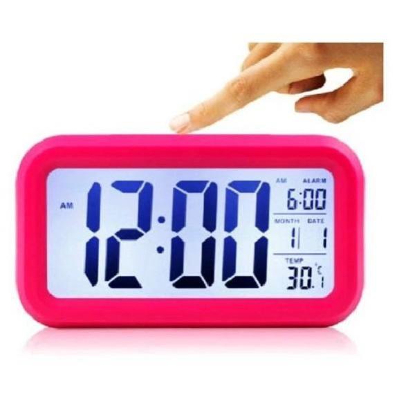 Nơi bán Đồng hồ báo thức kỹ thuật số với đèn LED nền cảm biến đa chức năng: thời gian, lịch, báo thức, nhiệt độ - LC01
